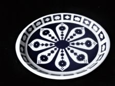 UNFINISHED ROYAL CROWN DERBY SMALL OVAL SHALLOW DISH DENSE BLUE WHITE 1128 7.75""